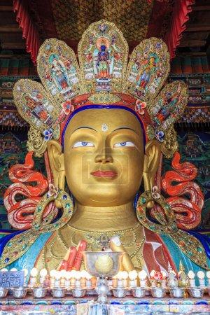 Maitreya Buddha statue in temple