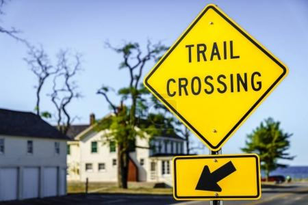Trail crossing sign