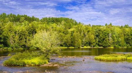 Scenic view of Tahquamenon River