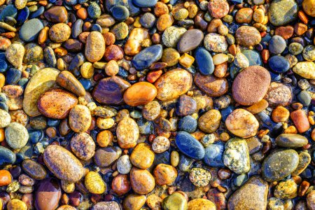 Colorful pebbles on  beach
