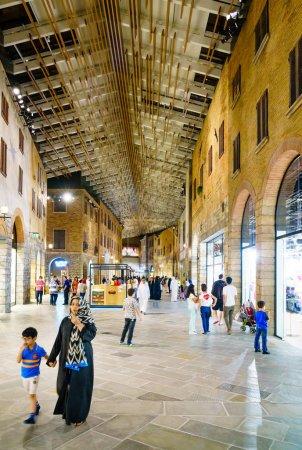 Dubai, UAE, November 11, 2016: interior of a new mall near Dubai, The Outlet Village.