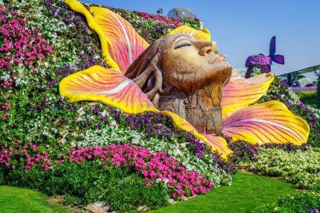 beautiful miracle Garden at sunny day, Dubai, UAE