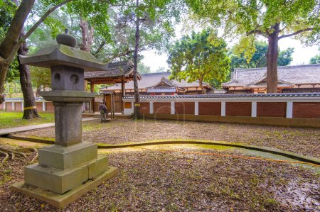 Japanese style garden in Chiayi park