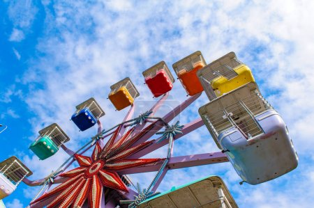 Colorful ferris wheel in the playground