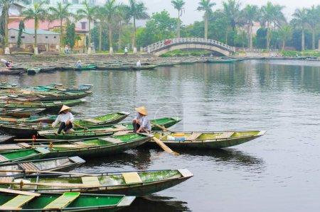 Tam Coc wharf in Vietnam
