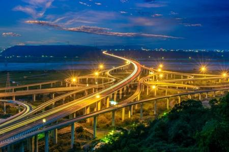 Photo for Aerial view of the Zhongqing Interchange in taichung - Royalty Free Image
