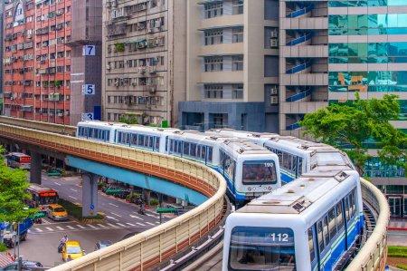 BR wenhu line of taipei metro system in taipei, taiwan