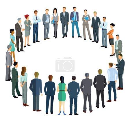 Photo pour Les gens d'affaires formant un cercle - image libre de droit