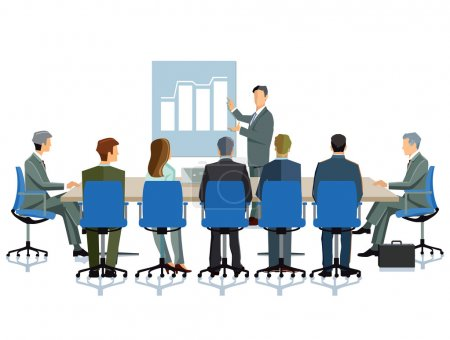 Illustration for Business meeting in the company - Royalty Free Image
