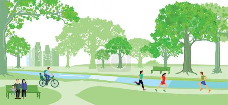 Park with healthy public