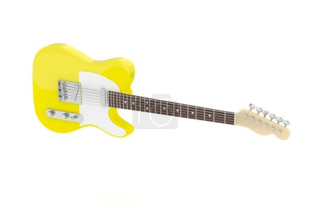 Isolated electric guitar.