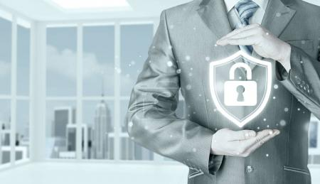 Data protection and insurance concept