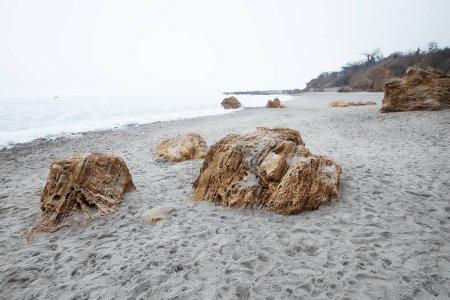 frozen sea in winter.