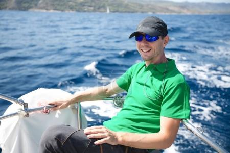 young  man  on the yacht