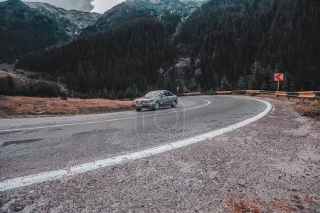 Beautiful  road in the mountains. Travel