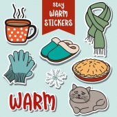 stay warm stickers collection