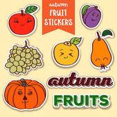 autumn fruit stickers