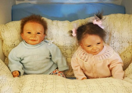 Photo for Old historical baby dolls as very nice object - Royalty Free Image
