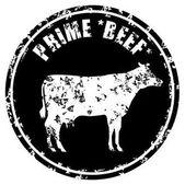 Prime Beef Butcher Shop Stamp