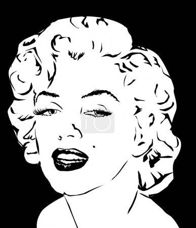 Мэрилин Монро векторные иллюстрации