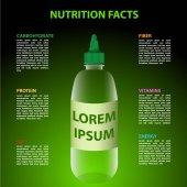Vector illustration of bottle infographics