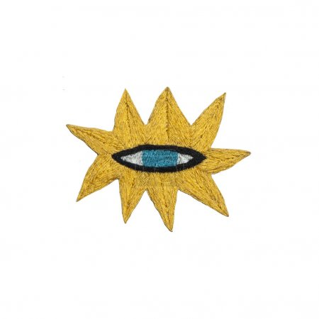 green eye in the yellow star.