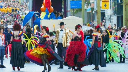 Scene of carnival procession.