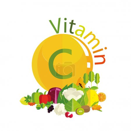 Composition of foods with vitamin C