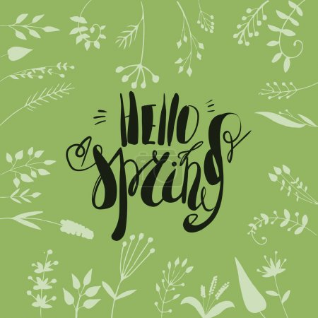 greeting card with lettering Spring