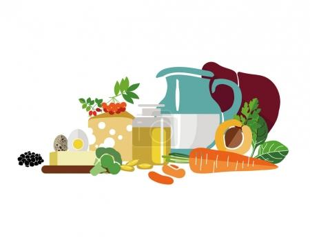 Composition of foods with maximum vitamin A