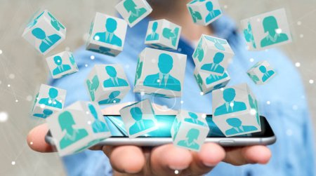 Businessman choosing candidate for a job 3D rendering