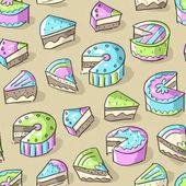 Bezešvé vzor s dorty