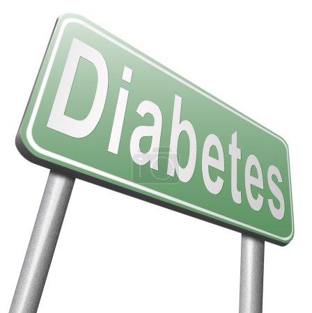 diabetes road sign, billboard