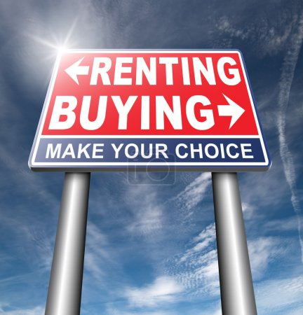 buying or renting road sign