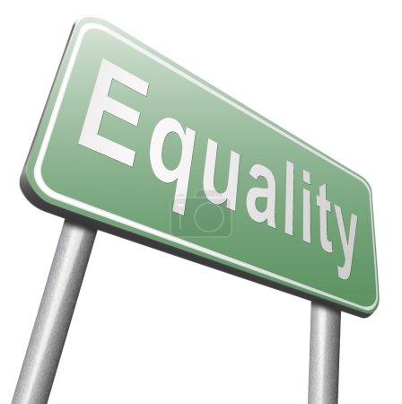 equal road sign, billboard