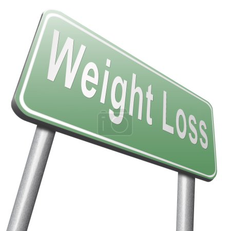 weight loss road sign, billboard