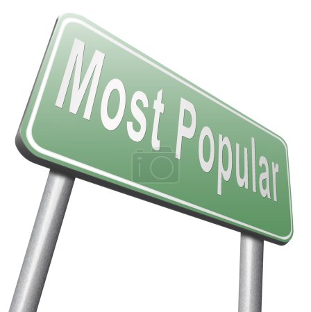Photo pour Panneau routier le plus populaire sur fond blanc - image libre de droit