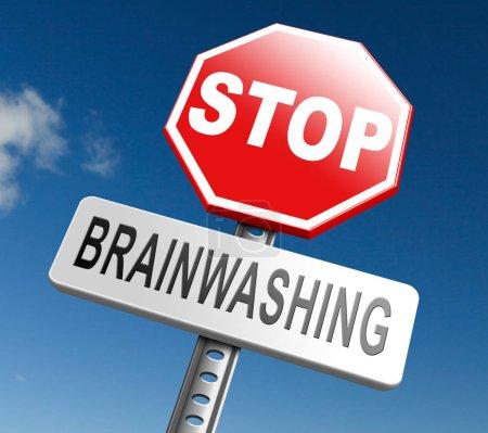 stop brainwashing sign