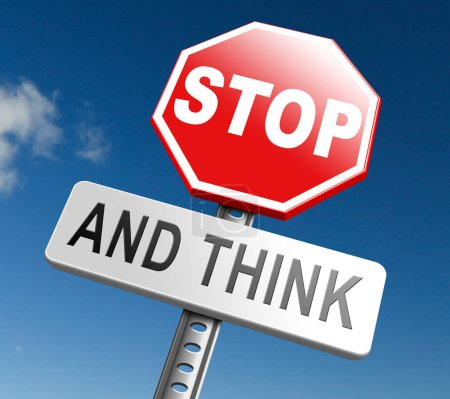 stop think act sign