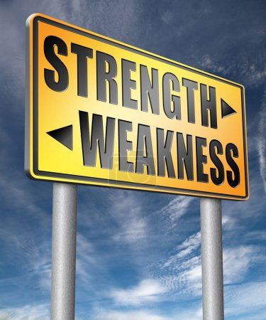 strength or weakness 3D illustration