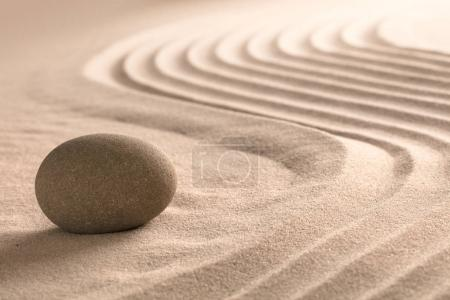 zen stone and sand