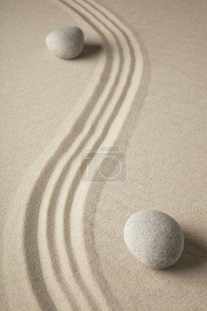 zen stones and sand