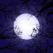 Halloween trees and moon