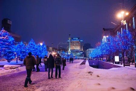 Winter urban illumination