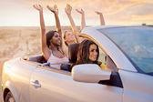 girls in a cabrio