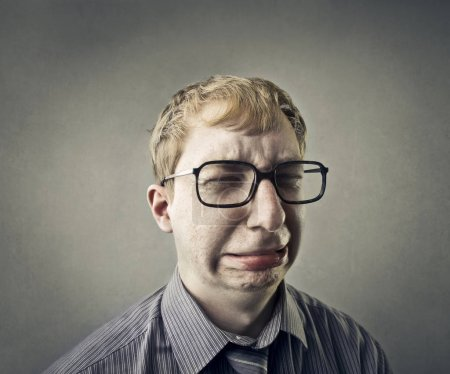 Businessman being sad