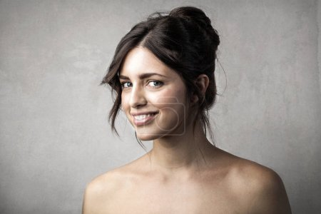 Portrait of a young caucasian woman