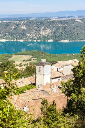 Aiguines and St Croix Lake at background, Var Depa...
