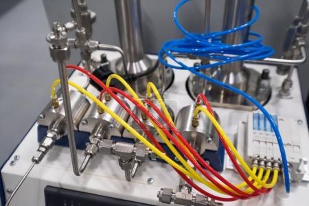 Scientific equipment in a new laboratory