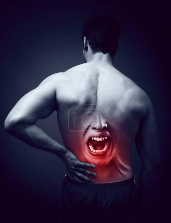 Photo for Man suffering back pain concept - Royalty Free Image